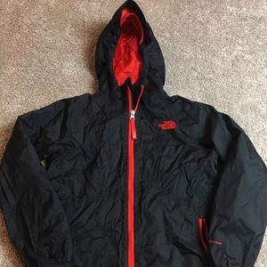 The north face black rain jacket 10/12